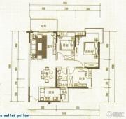 中惠国际金融中心3室2厅1卫108平方米户型图