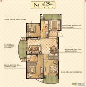永隆城市广场3室2厅2卫128平方米户型图