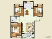 财信圣堤亚纳二期九臻3室2厅2卫108平方米户型图