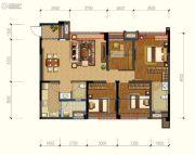 保利锦湖林语4室2厅2卫105平方米户型图