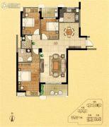 金紫世家3室2厅2卫124平方米户型图