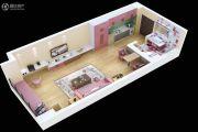 满堂悦MOMΛ1室1厅1卫49平方米户型图