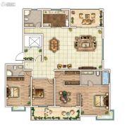 云顶蓝山3室2厅3卫236平方米户型图