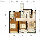 保利融信大国�Z3室2厅2卫97平方米户型图