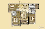 雅居乐中心广场3室2厅2卫129平方米户型图