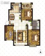 大成门3室2厅1卫118平方米户型图
