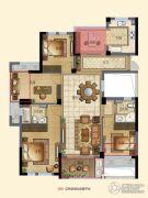 宁兴・上院4室2厅2卫128平方米户型图