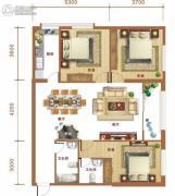 金和大厦3室2厅2卫120平方米户型图