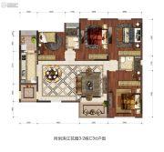 同创・滨江4室2厅2卫133平方米户型图