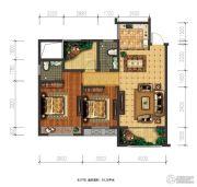 兴盛天鹅堡2室2厅2卫93平方米户型图