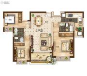 曲靖恒大绿洲3室2厅2卫121平方米户型图