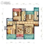 和众・曲江城阅3室2厅2卫126平方米户型图