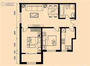 加莱印象2室2厅1卫94平方米户型图