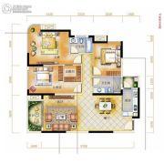 辉和・和畅国际3室2厅2卫108平方米户型图