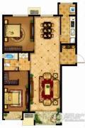 懿品府2室2厅1卫113平方米户型图