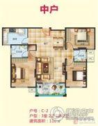 盛宇未来城3室2厅2卫110平方米户型图