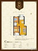 御景园2室2厅1卫96平方米户型图