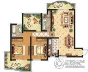 祥安东城国际花园2室2厅2卫130平方米户型图
