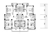 宇业天逸华府 高层2室2厅1卫75平方米户型图
