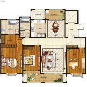 腾飞鹿鸣湖畔3室2厅2卫175平方米户型图