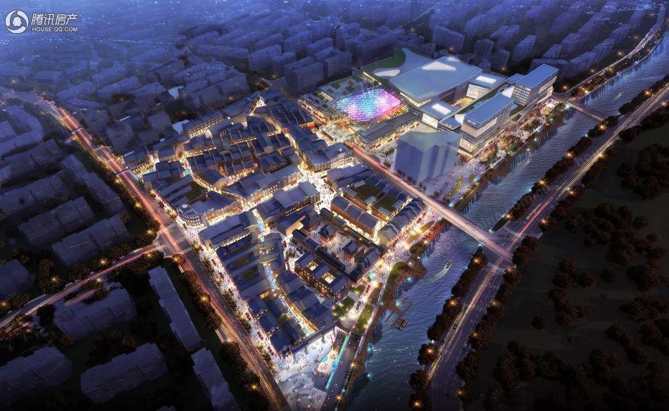 国瑞升平商业中心鸟瞰图