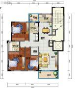 海东城3室2厅2卫140--154平方米户型图