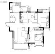 保利鑫城3室2厅1卫97平方米户型图