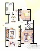 天和湖滨2室2厅1卫90平方米户型图