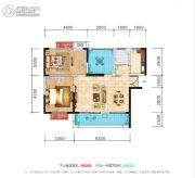 荣泰广场2室2厅1卫95平方米户型图