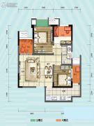 旭阳台北城敦美里3室1厅1卫65平方米户型图