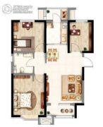 意境兰庭3室2厅1卫93平方米户型图