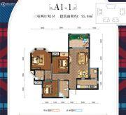 英伦联邦3室2厅2卫95平方米户型图
