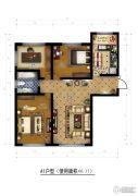香榭丽舍二期2室2厅1卫0平方米户型图