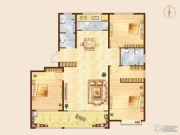 知山雅筑3室2厅2卫160平方米户型图