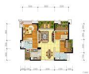 宏创・龙湾半岛3室2厅2卫100平方米户型图