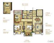 复地江城国际3室2厅1卫90平方米户型图