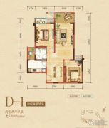 嘉州新城・滟澜洲2室1厅1卫60平方米户型图