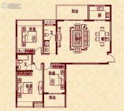 新华茗苑3室2厅2卫133平方米户型图