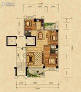 尚东一品3室2厅2卫0平方米户型图