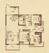 蓝湾新城3室2厅2卫137平方米户型图