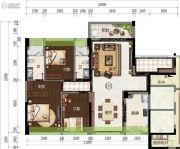 君华・禧悦台3室2厅2卫128平方米户型图