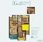 路劲・诺丁山3室2厅1卫89平方米户型图