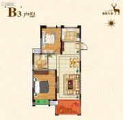 淀湖鹿鸣九里2室2厅1卫87平方米户型图