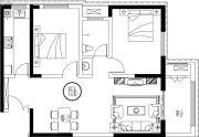 财富公馆2室2厅1卫0平方米户型图