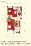嘉泰华府3室2厅2卫132平方米户型图