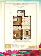 中泽纯境2室2厅1卫94平方米户型图
