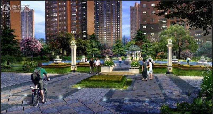 公园书香城实景图