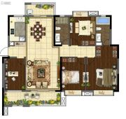 龙湖首开天宸原著4室2厅2卫160平方米户型图