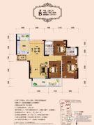 天誉华府3室2厅2卫129--130平方米户型图