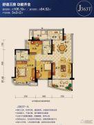 碧桂园・豪园(四会)3室2厅2卫80--110平方米户型图
